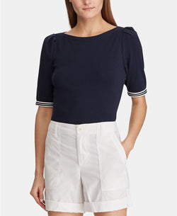TONYA ELBOW SLV KNIT TOP