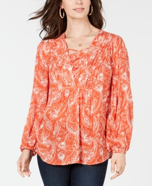 CW VNK LACE UP TOP