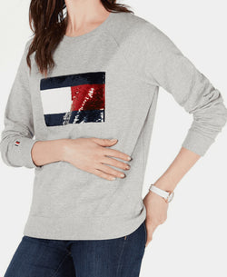 SEQUIN FLAG SWTSHIRT