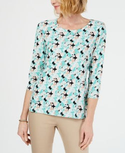 Novelty Printed Jacquard Top