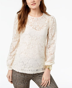RUCHED WAIST LS TOP