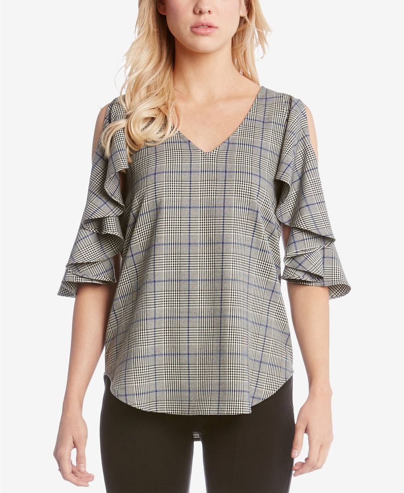 PLA RUFFLE SLEEVE TOP