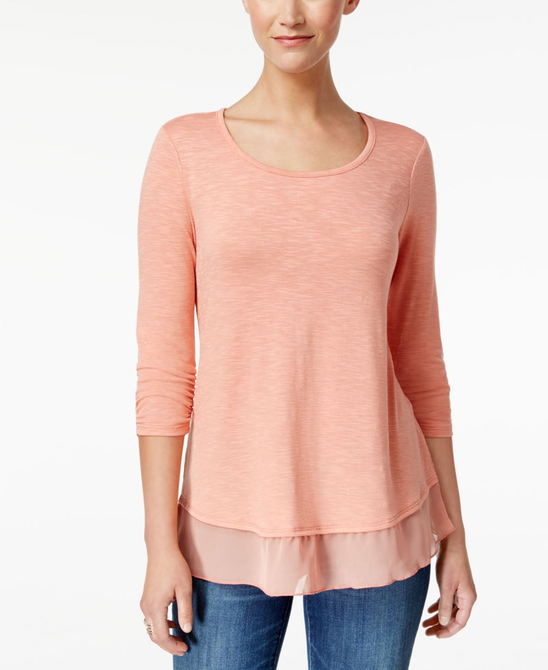 Chiffon-Hem Top Cloud