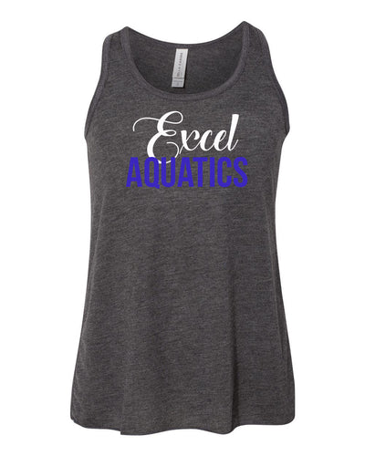 YOUTH Excel Aquatics Flowy Racerback Tank - White/Royal