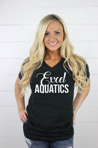 Excel Aquatics V Neck - White