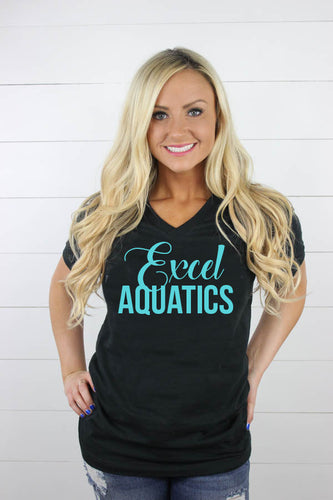 Excel Aquatics V Neck - Teal