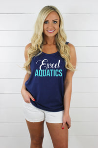 Excel Aquatics Comfort Colors Tank - White/Teal
