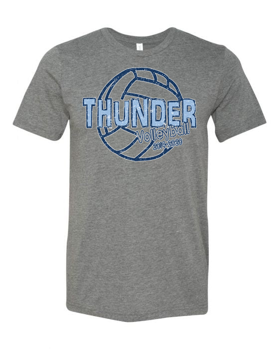 Thunder Volleyball Tee -  Bella Canvas/LAT tee