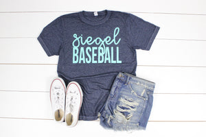 Siegel Baseball Acid Wash Tee - Teal