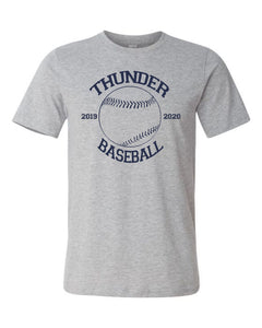 Thunder Baseball-  Bella Canvas/LAT tee