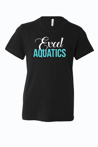 YOUTH Excel Aquatics Crew Neck - White/Teal