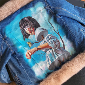 'Marionette' Hand-Painted Denim Jacket