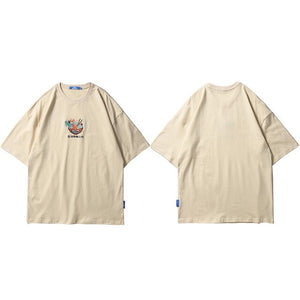 'Ramen Dragon' Embroidery T-Shirt