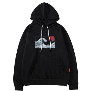 'Great Wave Embroidery' Hoodie
