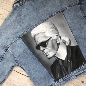 'Karl Lagerfeld' Hand-Painted Denim Jacket