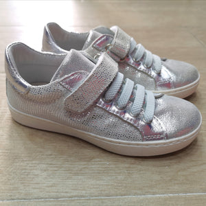 Bimbo shoes - Sneakers argentata glitter