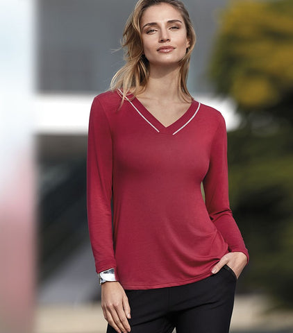 T-shirt micro modal Riviera Rouge