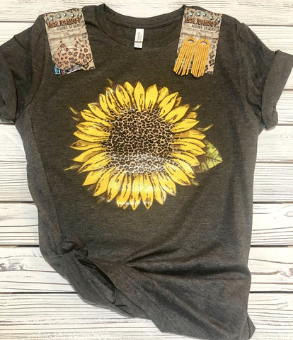 Leopard Sunflower T-shirt