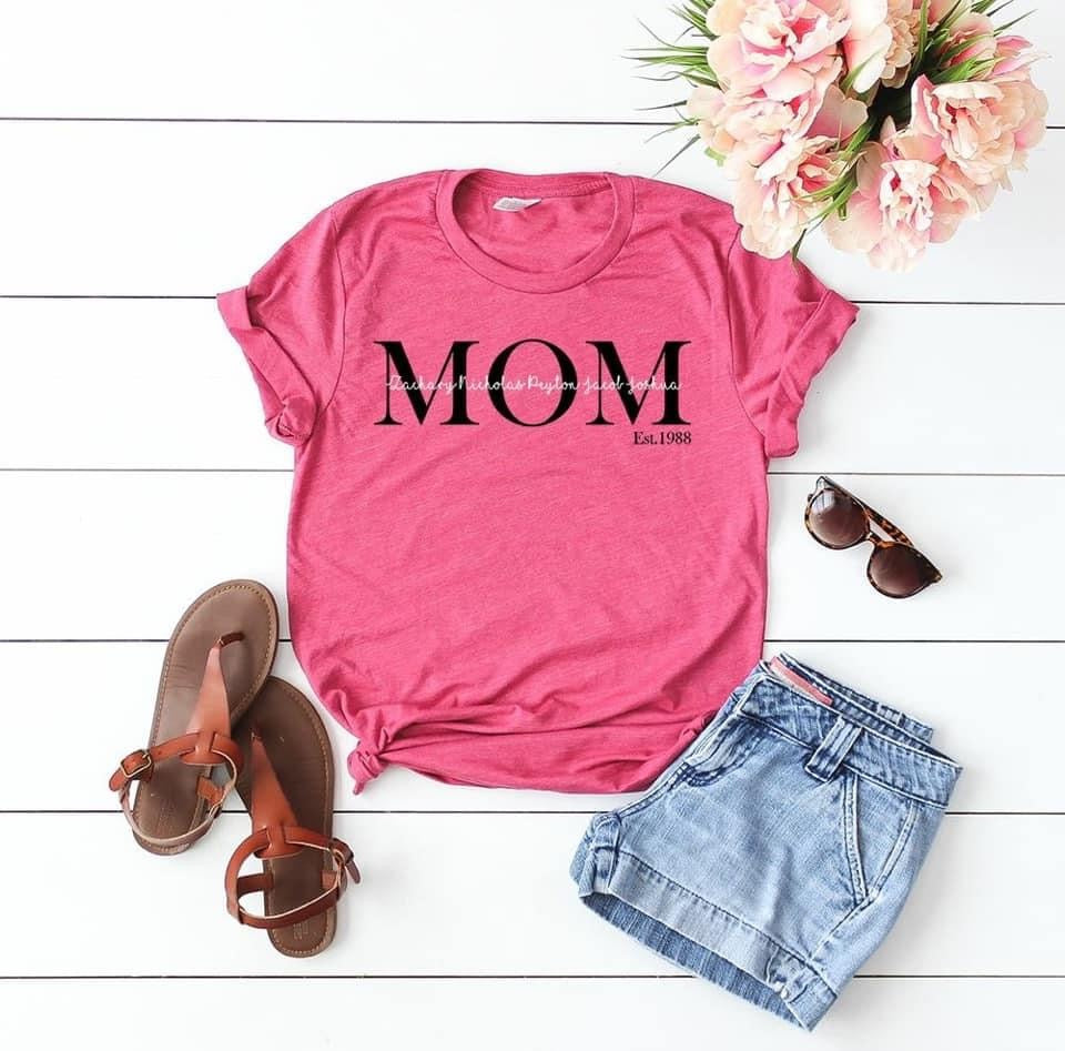 Personalized Mom/Nana/Gigi/Grandma Tee