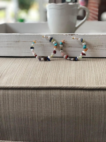 Multicolored Stone Earrings
