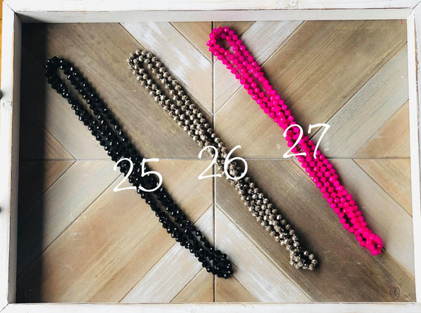 "60"" Wrap Necklaces, Assorted Colors"