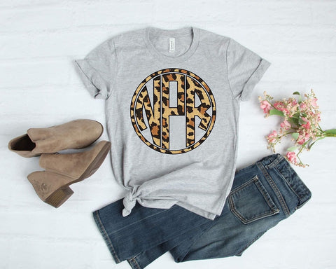 Leopard Circle Monogram T-shirt