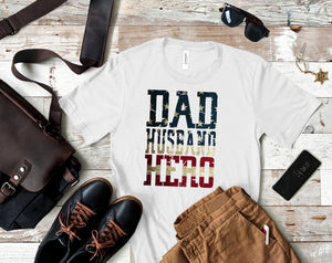 Dad Husband Hero Tee