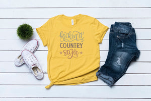 Kickin' it Country Style Tee