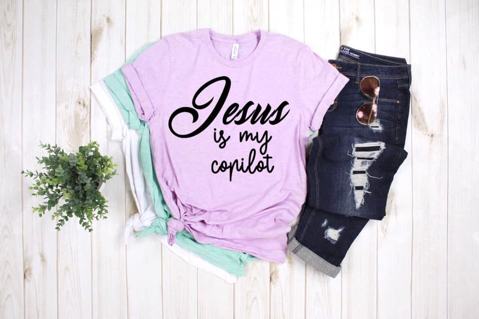 Jesus is my Copilot Tee