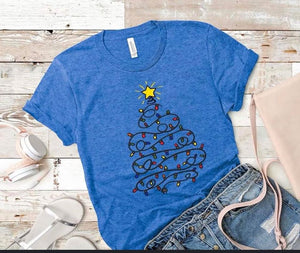 Christmas Lights Tree Tee