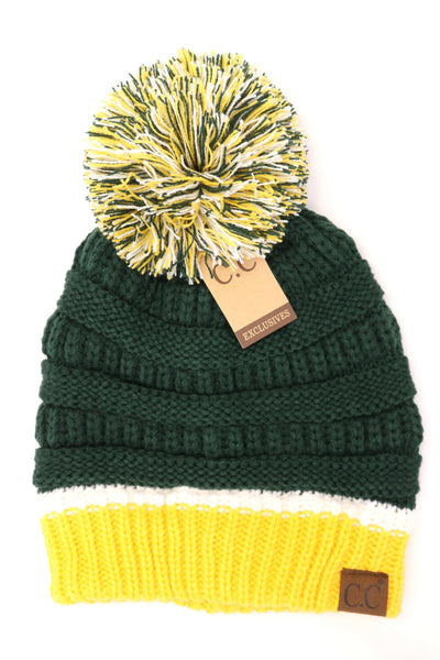 FOOTBALL TEAM COLORED CC BEANIE HAT1429