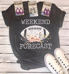 Weekend Forecast Football T-shirt
