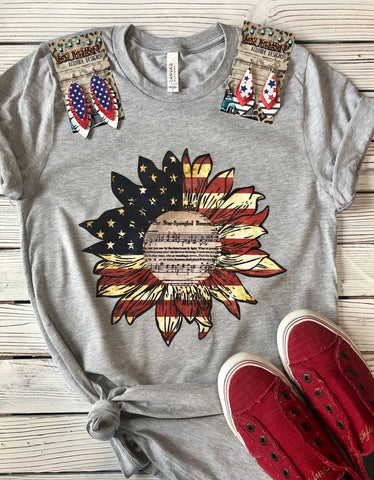 Patriotic Flower Song T-shirt