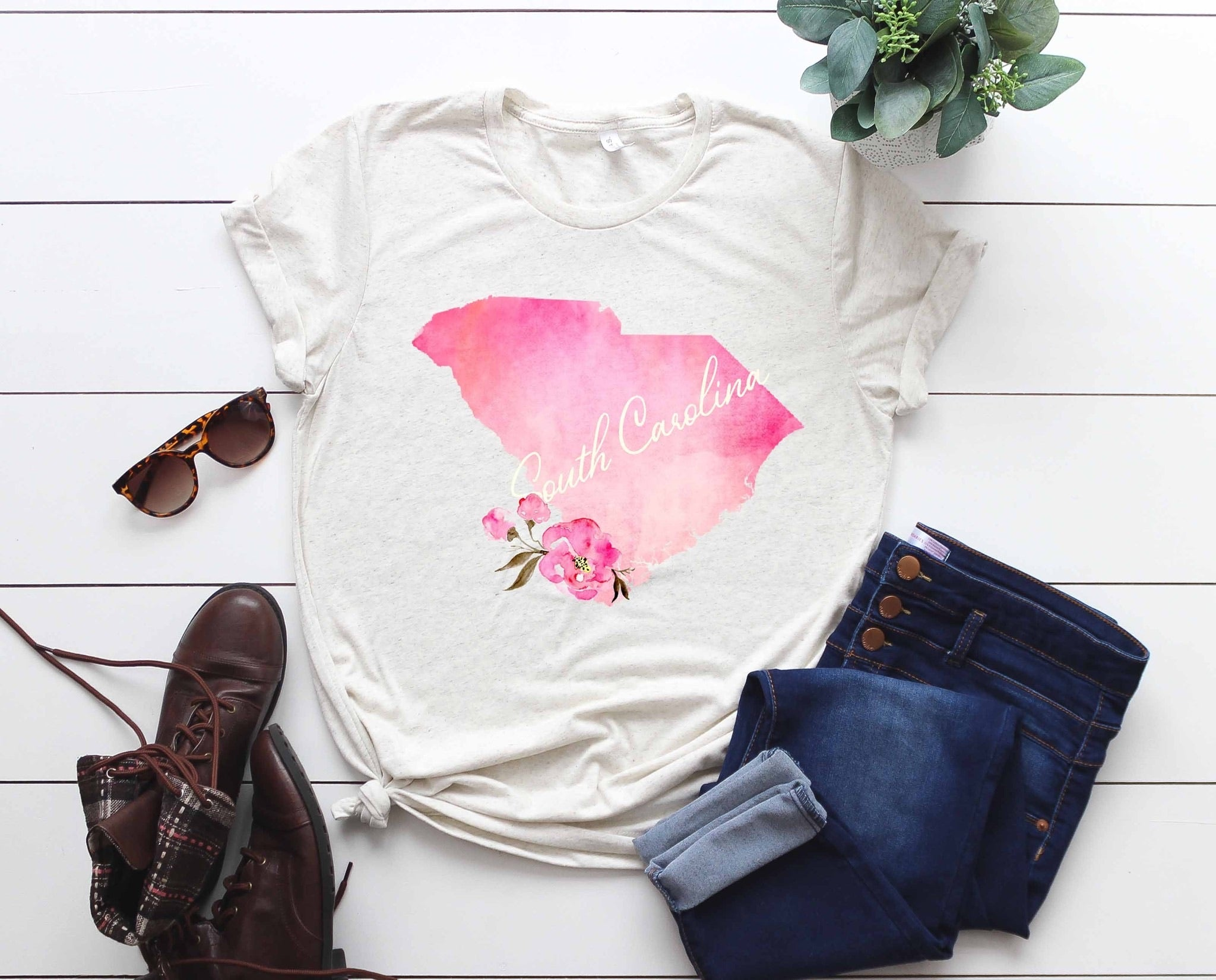 SC Watercolor Tee