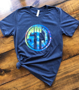 Tie Dye Circle Monogram T-shirt