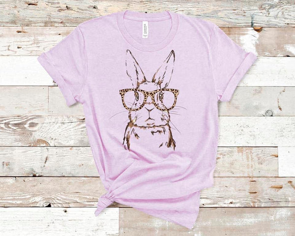 Bunny with Leopard Glasses Tee