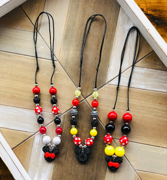 Mickey and Minnie Adjustable Necklace