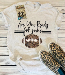 Leopard Print Are You Ready for Some Football T-shirt