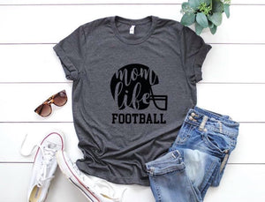 Mom Life Football T-shirt