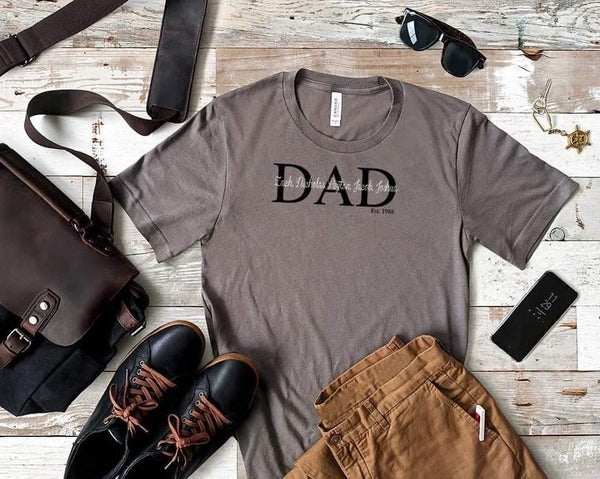Personalized Dad/Pop/Papa/Grandpa Tee