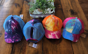 Tie Dye High Ponytail Cap