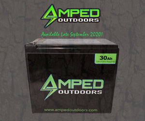 Amped Outdoors 30Ah Lithium Battery (LiFePO4) Wide