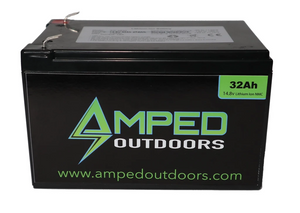Amped Outdoors 32Ah Lithium Battery (14.8V NMC) with Charger