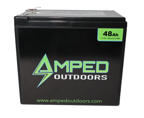 Amped Outdoors 48Ah Lithium Battery (14.8V NMC) with Charger