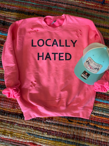 Locally Hated distressed sweatshirt