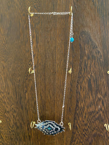 STERLING SILVER AZTEC NECKLACE