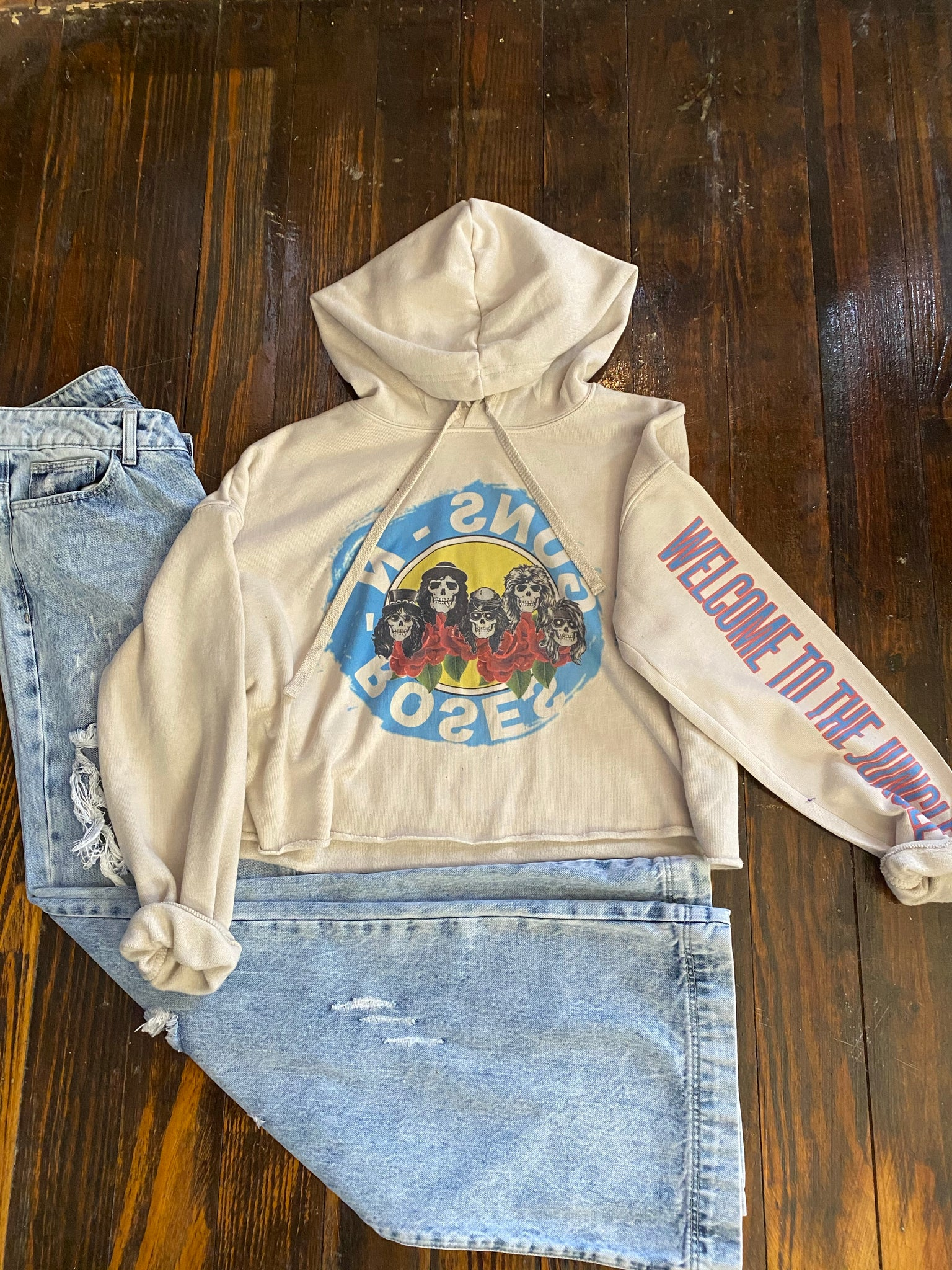 Guns -N- Roses welcome to the jungle- CROPPED HOODIE
