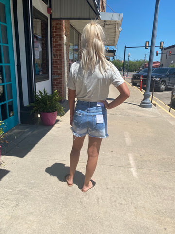 RIGHT HAND DENIM SHORTS
