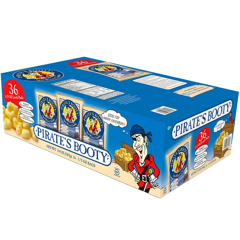 Pirate's Booty Aged White Cheddar Puffs (0.5 oz., 36 pk.)