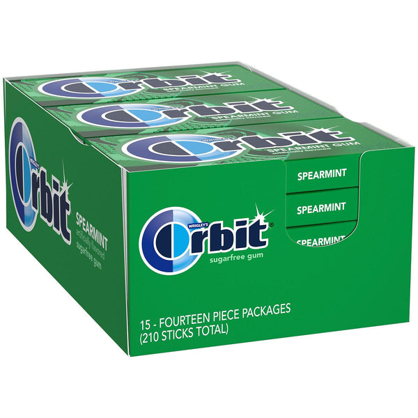 Orbit Spearmint Sugar-Free Gum (14 ct., 15 pks.) (Min 2 per order)